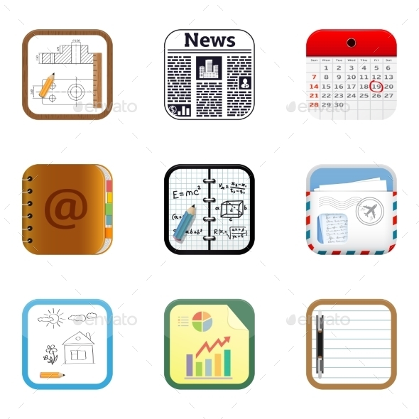 Documents Apps Icons - Web Technology