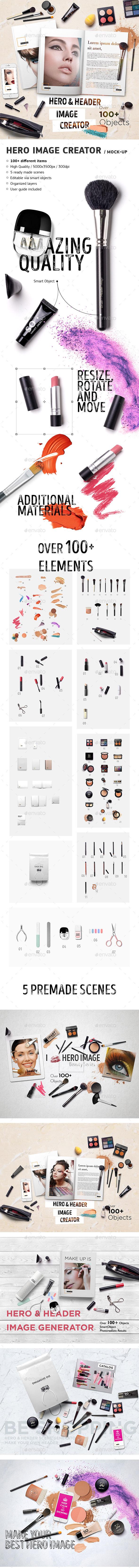 Hero Image Creator / Mock-Up  - Hero Images Graphics