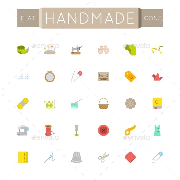 Vector Flat Handmade Icons - Miscellaneous Icons