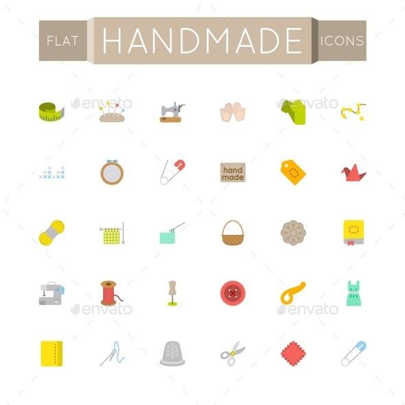 Vector Flat Handmade Icons - Miscellaneous Conceptual