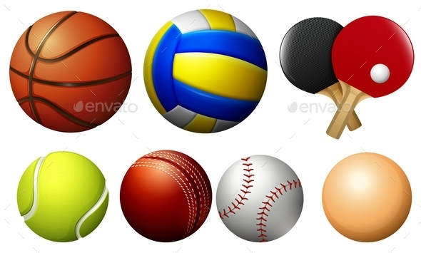 Sports Balls on White - Miscellaneous Vectors
