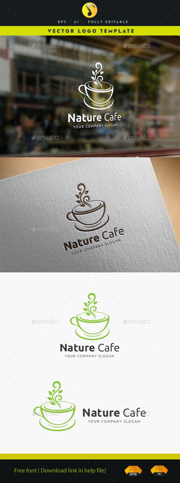 Nature Cafe Logo - Food Logo Templates