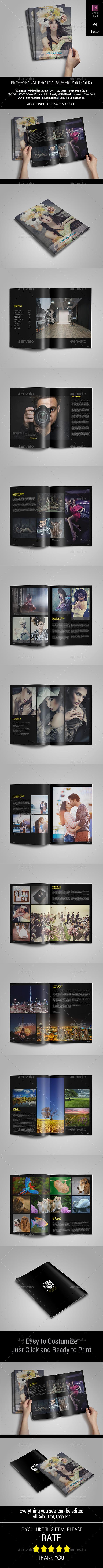 Minimal Photographer Portfolio - Portfolio Brochures