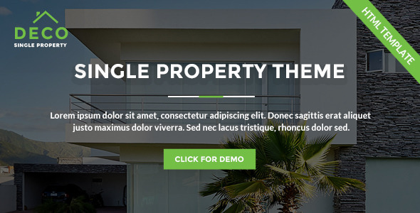 Deco House – Single Property Real Estate HTML Template