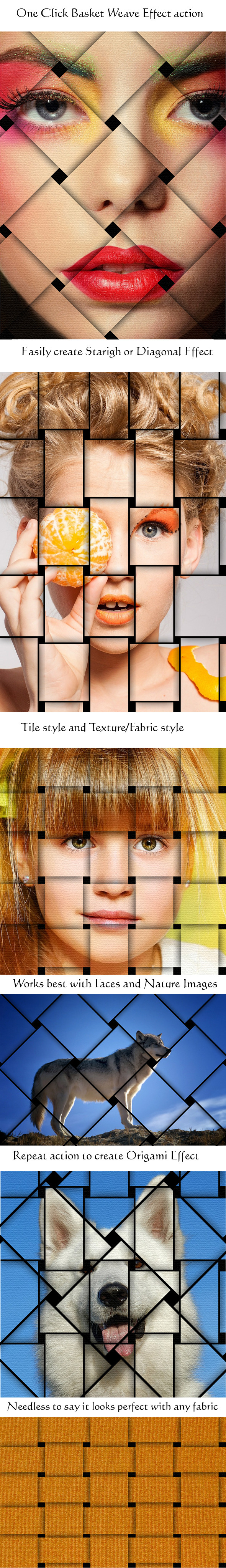 Basket Weave Effect - Photo Effects Actions