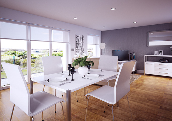 Dining Room / Lounge interior Vray for Cinema 4D - 3DOcean Item for Sale