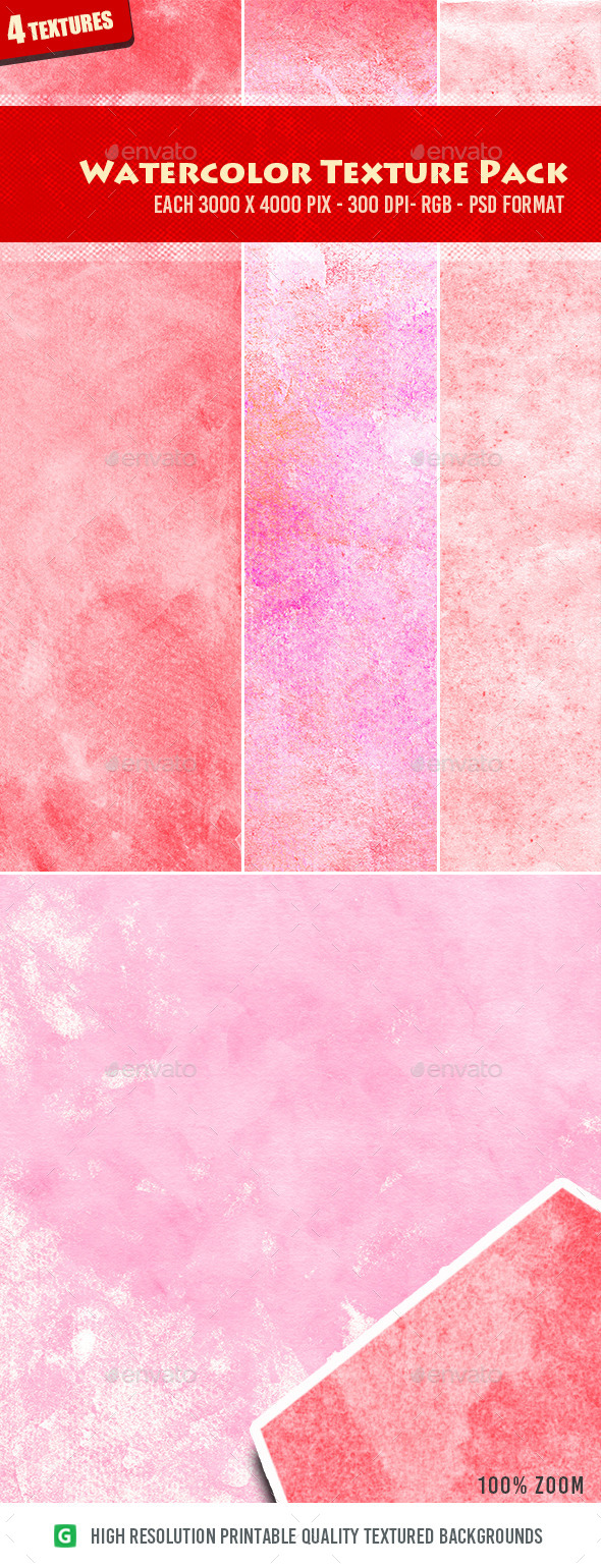 Watercolor Texture Pack 06 - Art Textures