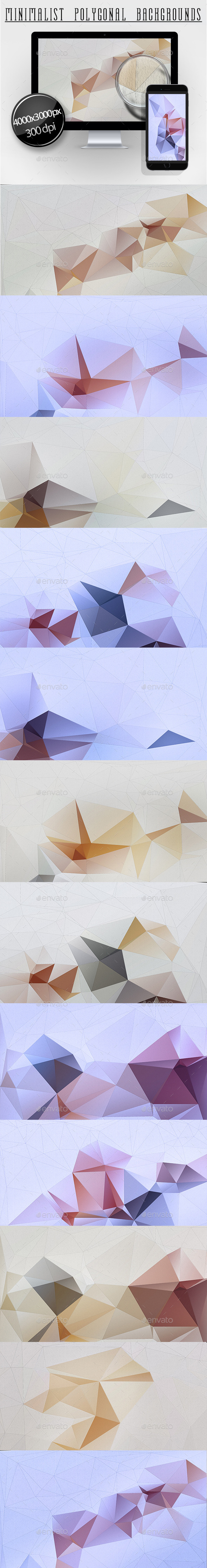 Minimalist Polygonal Backgrounds - Abstract Backgrounds