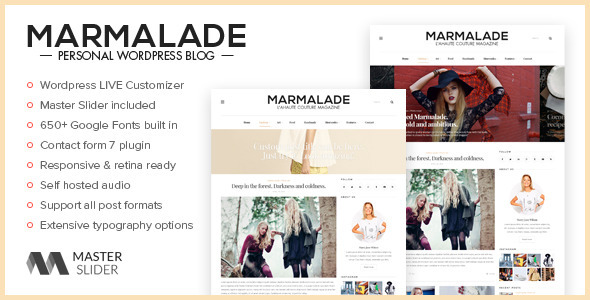 The Marmalade – Personal WordPress Blog Theme