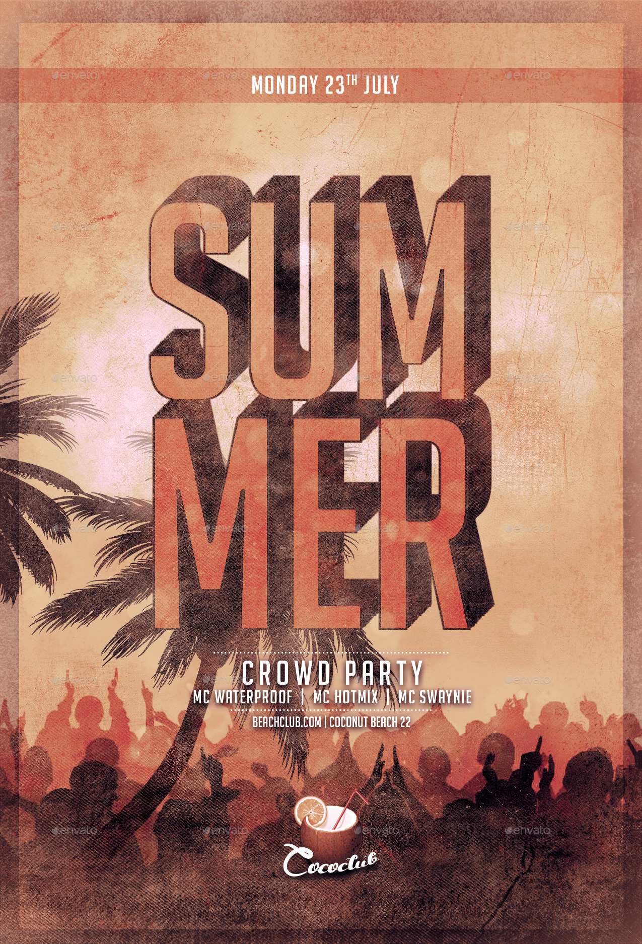 Summer Crowd Party Flyer Template | 4×6 and 6×4 by Flyermarket ...