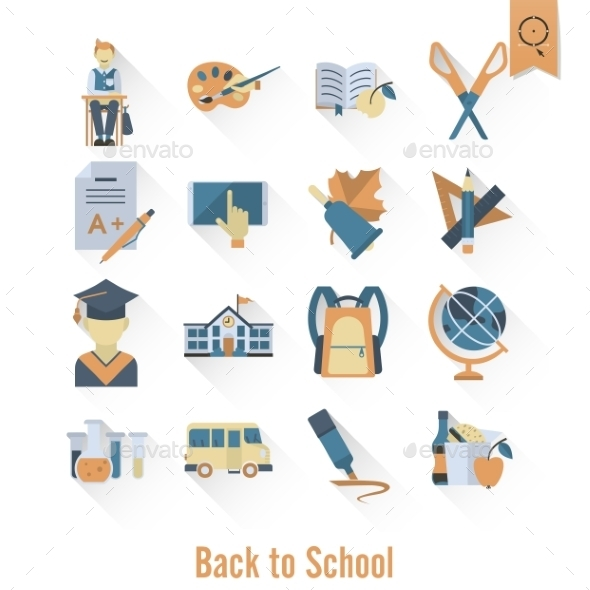 School and Education Icons - Miscellaneous Conceptual