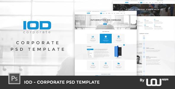 IOD Corporate PSD Template