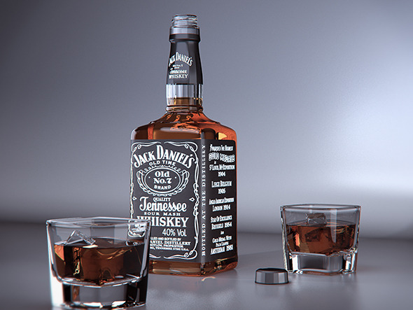 Jack Daniels product visual - Vray for Cinema 4D - 3DOcean Item for Sale