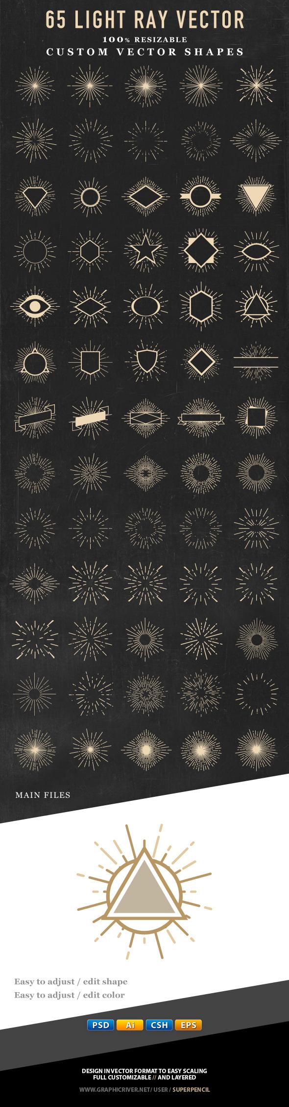 Light Ray Vector Shape - Miscellaneous Shapes