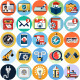 Flat Circle Icons Set - GraphicRiver Item for Sale