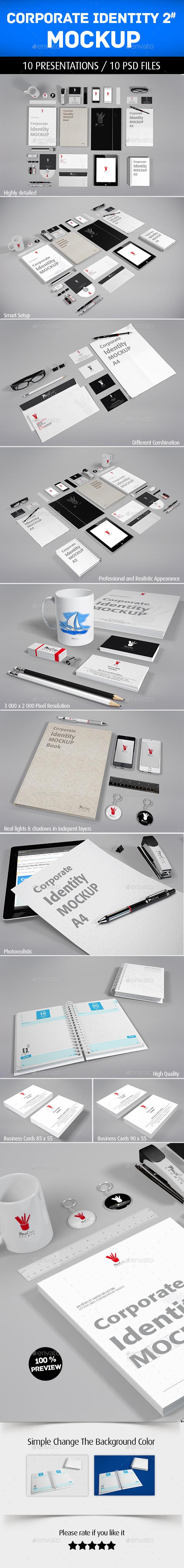 Corporate Identity Mockup V2 - Product Mock-Ups Graphics