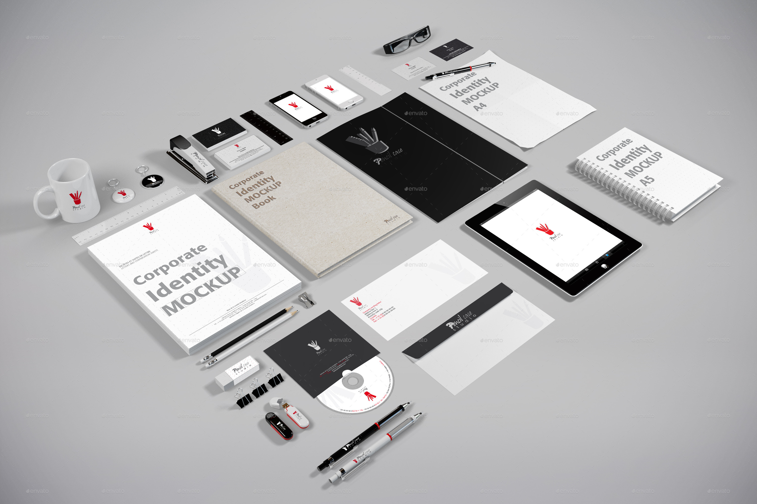 corporate identity mockup v2prodessin | graphicriver, Powerpoint templates