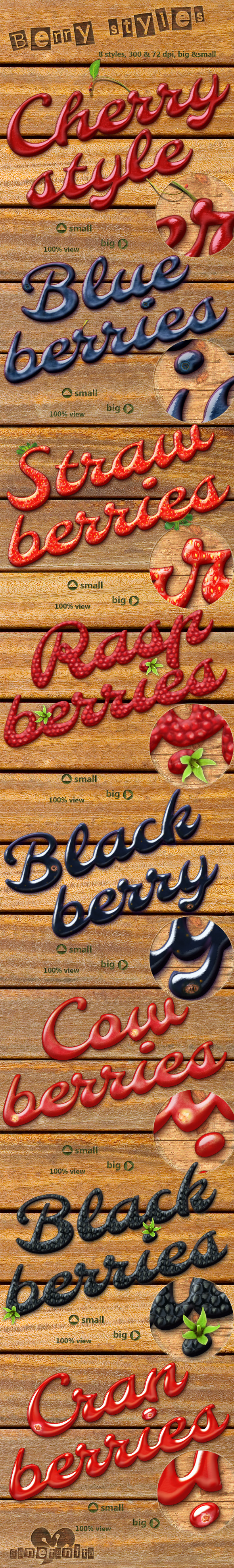 Berry Styles  - Text Effects Styles