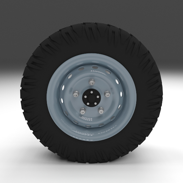 Offroad Wheel - 3DOcean Item for Sale