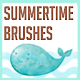 Watercolor Summertime Brushes - GraphicRiver Item for Sale