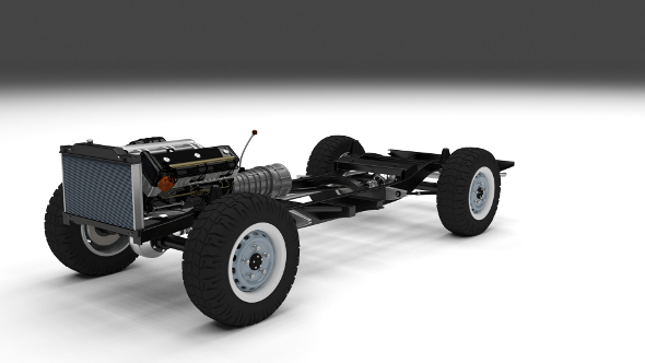 Offroad Truck Chassis - 3DOcean Item for Sale