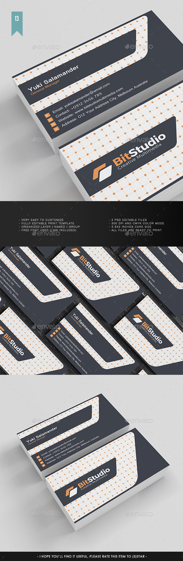 Business Card V.013 - Corporate Business Cards