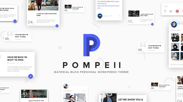 Pompeii – Material Blog, Personal WordPress Theme