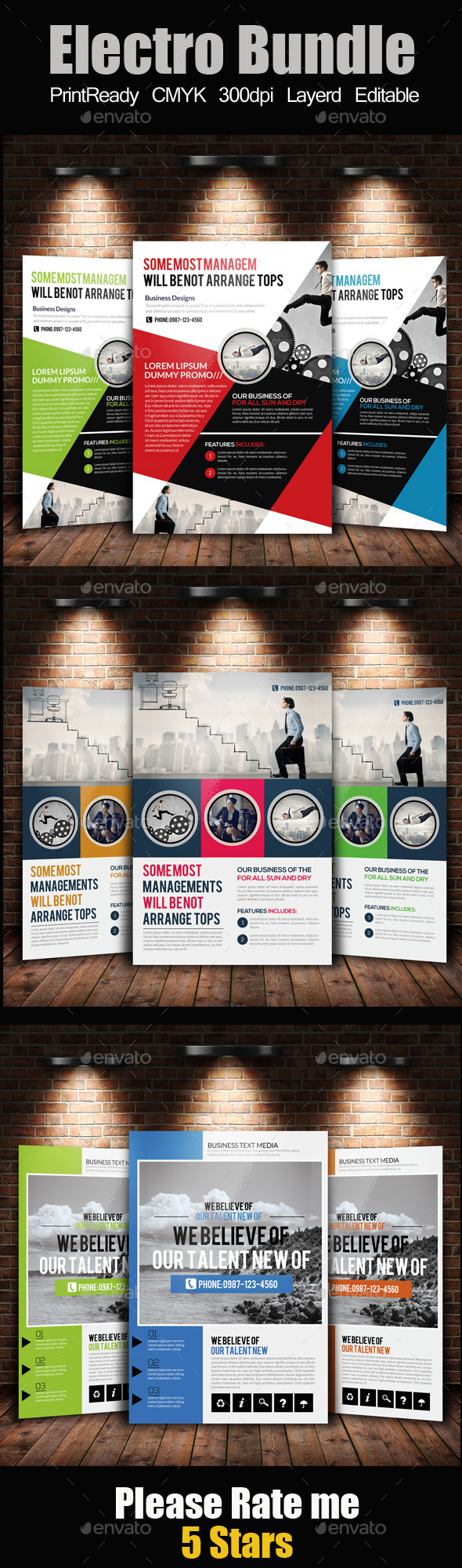 A4 Business Flyer Template Bundle - Corporate Flyers