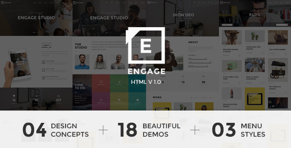 Engage – Creative One Page Parallax