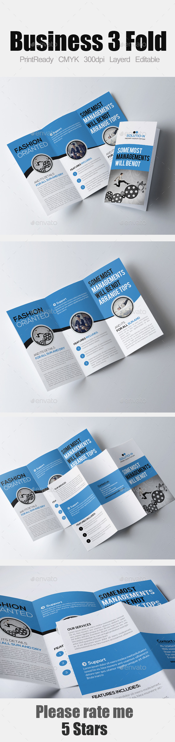 Tri Fold Business Brochure - Corporate Brochures