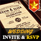 Elegant Wedding Invitation - GraphicRiver Item for Sale