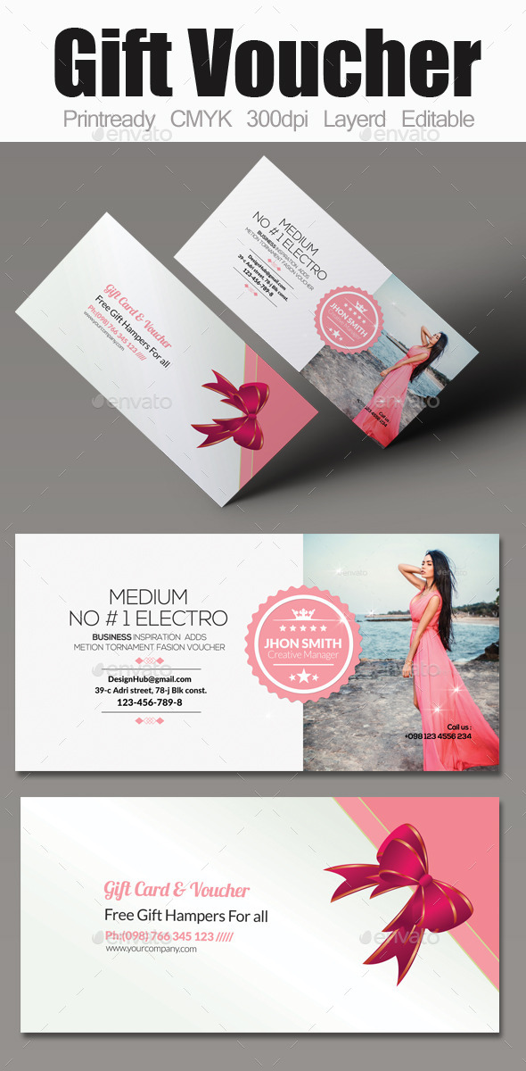 Multi use business gift voucher by designhub719 graphicriver multi use business gift voucher cards invites print templates wajeb Gallery
