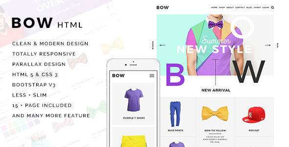 BOW – Parallax Responsive Fashion Template