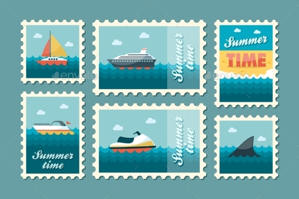 Summertime Stamp Set Flat - Seasons/Holidays Conceptual