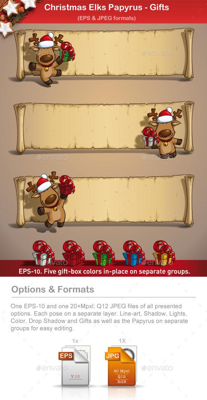 Christmas Elks - Papyrus Gifts - Christmas Seasons/Holidays