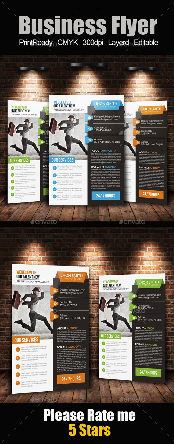 A4 Business Flyer Template - Corporate Flyers
