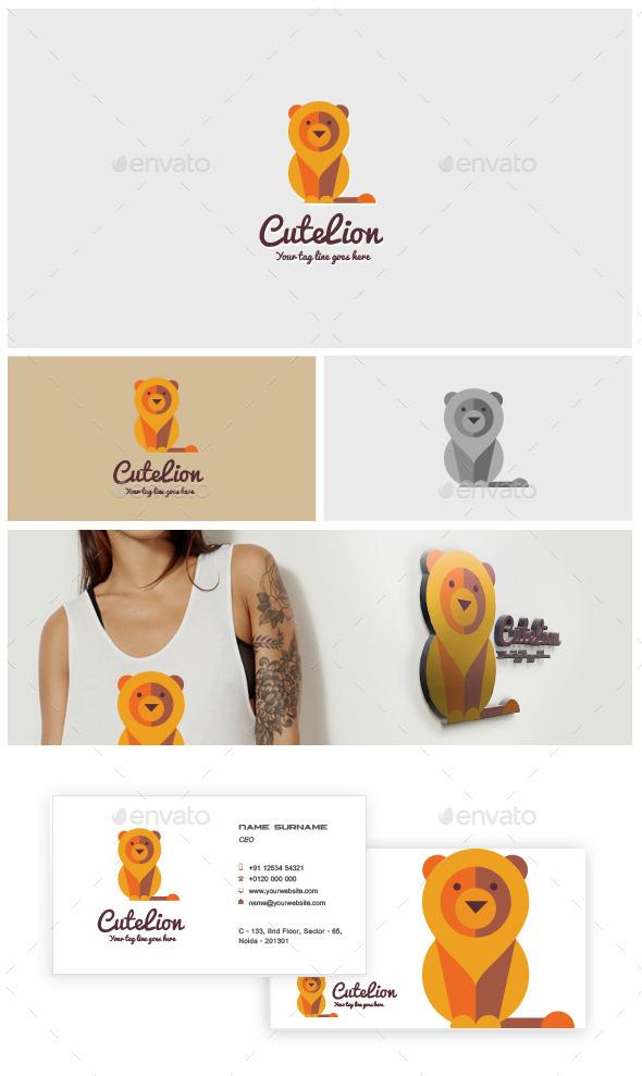 Cute Lion Logo - Animals Logo Templates