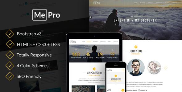 MePro – Creative Personal & Portfolio Template
