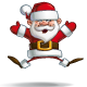 Happy Santa - Jumping with Open Hands - GraphicRiver Item for Sale
