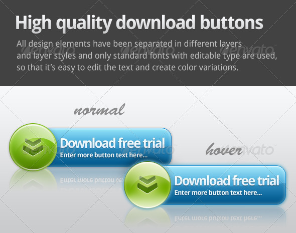 Web 2.0 Download button - Buttons Web Elements