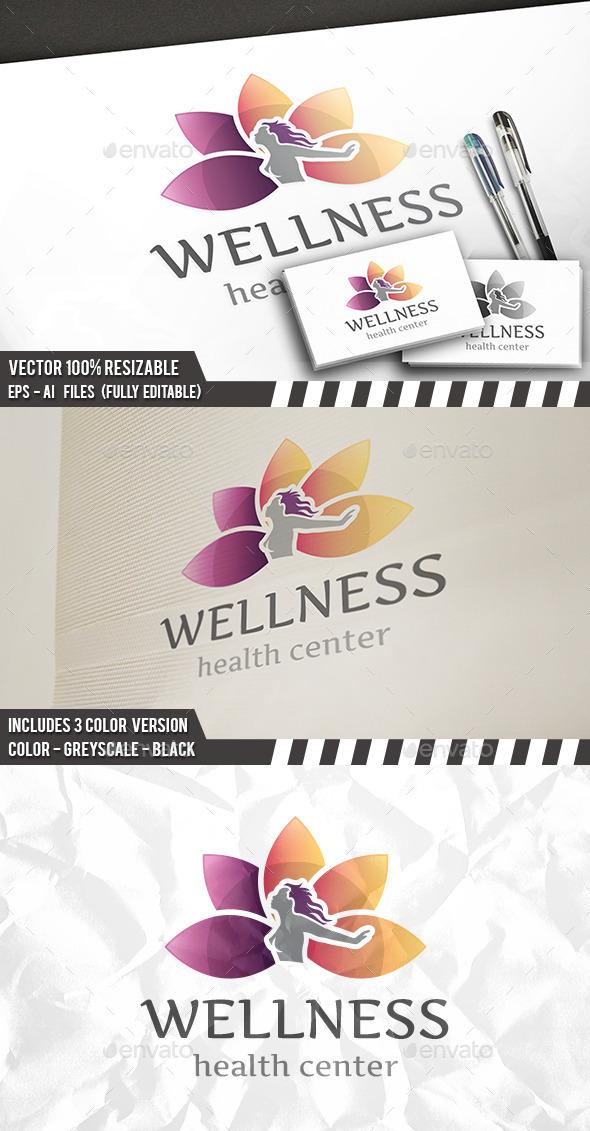 Lotus Wellness Logo - Nature Logo Templates