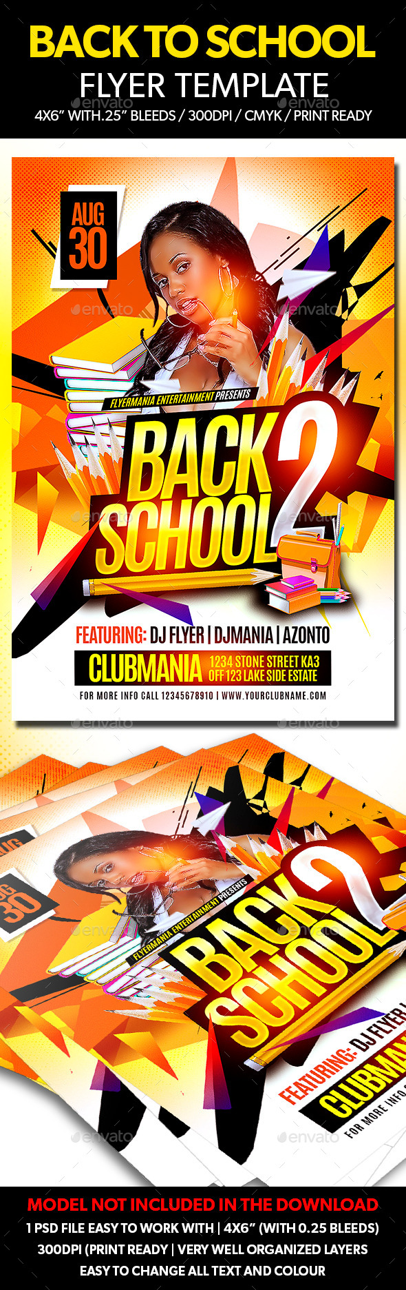 Back to School Flyer Template - Flyers Print Templates
