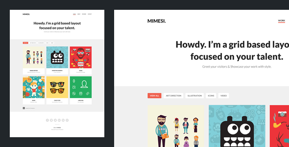 Mimesi – Creative Portfolio Theme for Tumblr