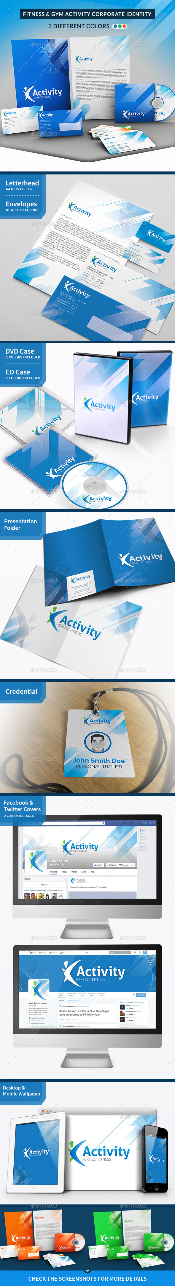 Fitness and Gym Corporate Identity - Stationery Print Templates