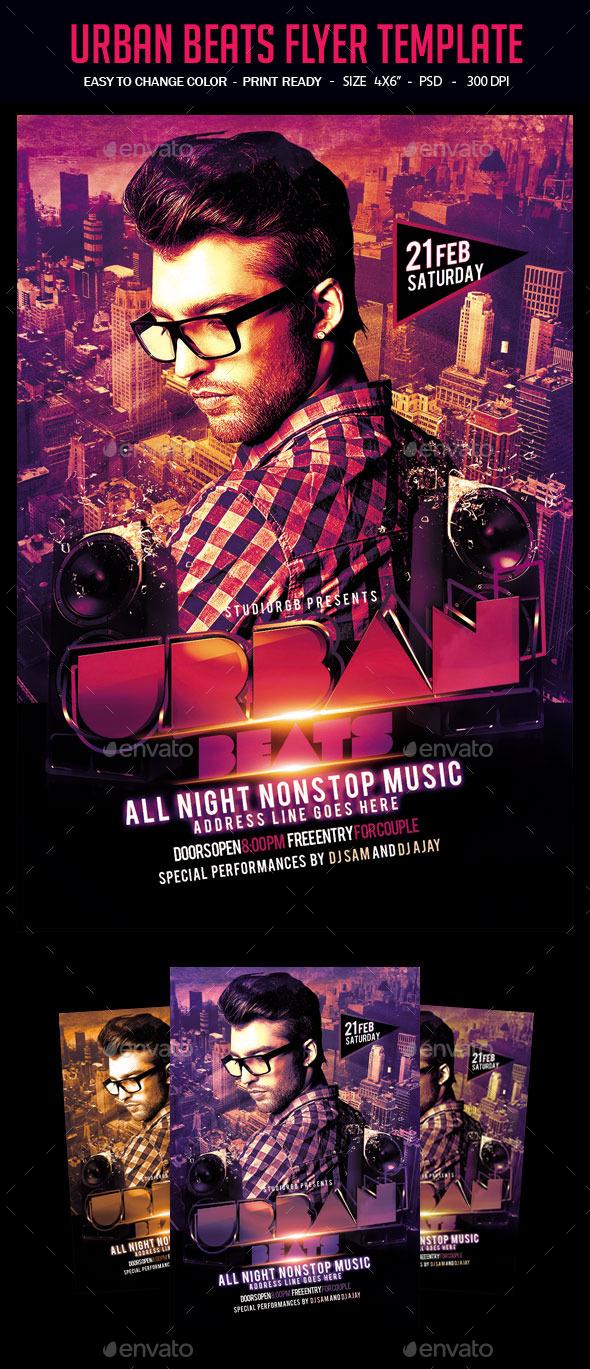 Urban Beats Flyer Template - Clubs & Parties Events