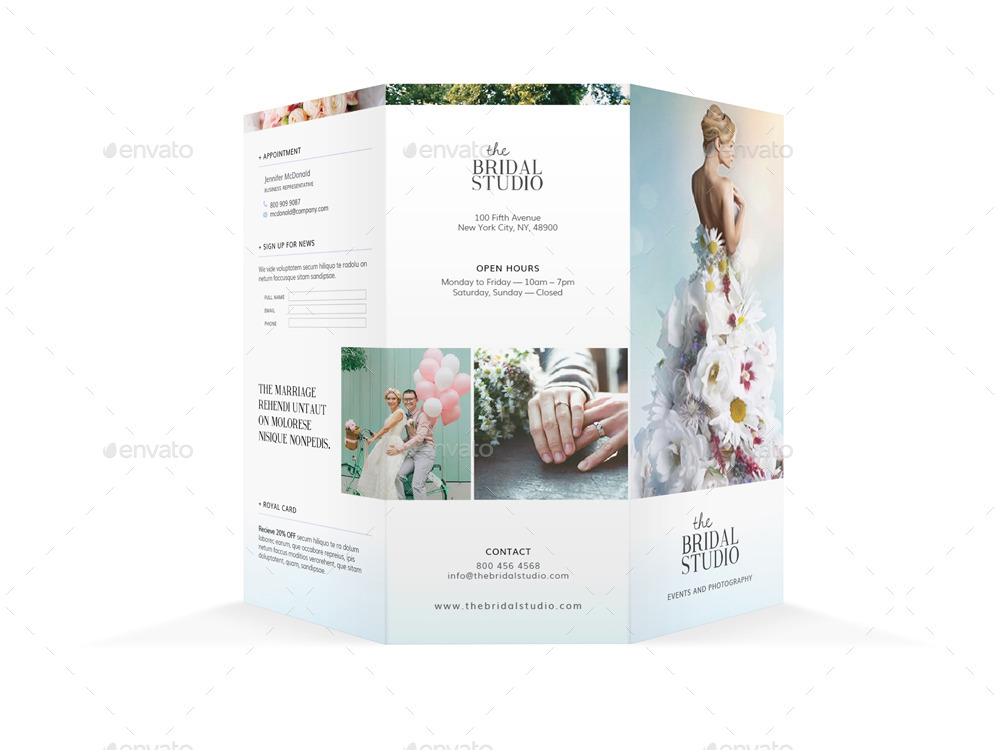 Bridal Studio Trifold Brochure By MikePantone  Graphicriver