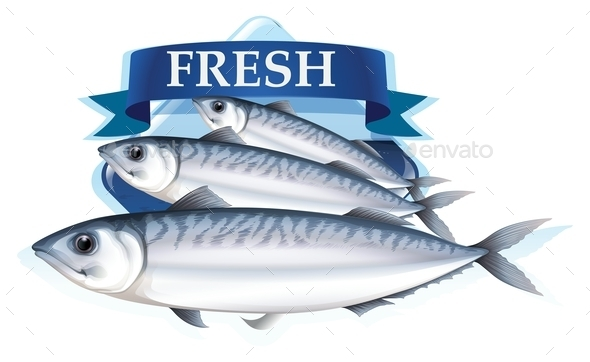 Fresh Sardines with Text - Animals Characters