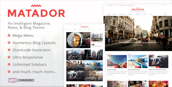 Matador – Responsive News, Blog, & Magazine Theme
