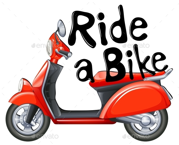 Ride a Bike - Objects Vectors