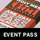 Men of God Conference Event Pass Template - GraphicRiver Item for Sale